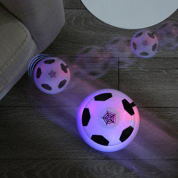 Air Power Floating Soccer Gliding Football with Foam Bumpers LED Lights Kids Toy - BLACK
