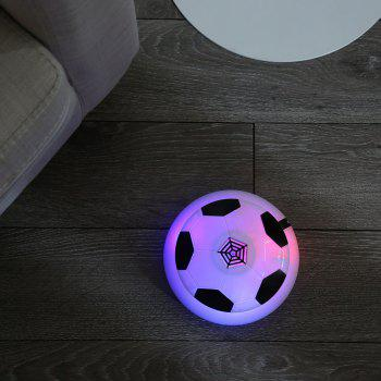 Air Power Floating Soccer Gliding Football with Foam Bumpers LED Lights Kids Toy - WHITE