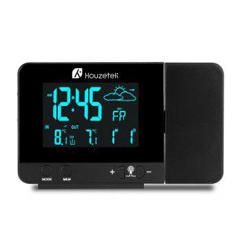 Houzetek 3531B Projection Alarm Clock - BLACK EU PLUG