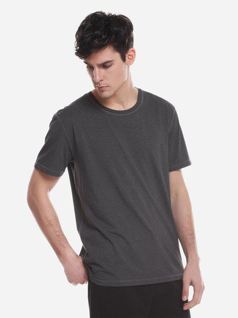 T-shirt ras du cou - CHARCOAL GRAY L