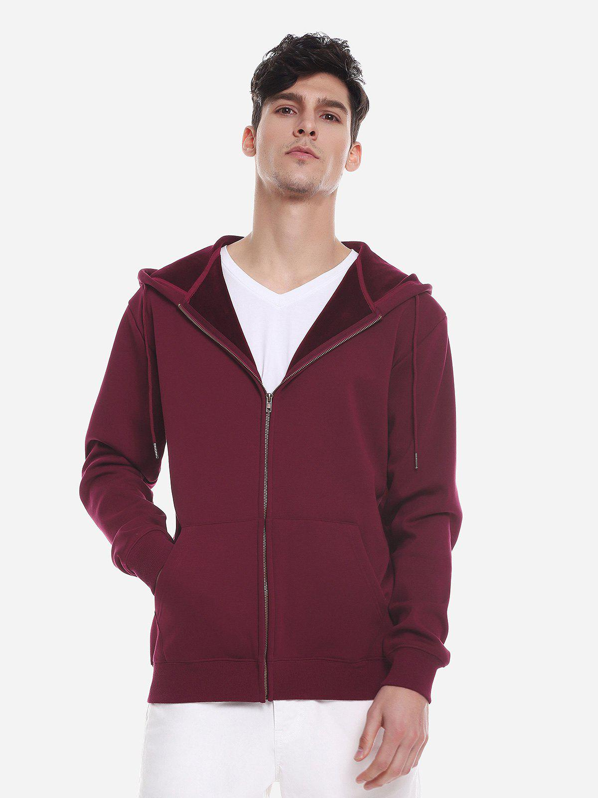 ZAN.STYLE Zip Up Pocket Hooded Sweatshirt