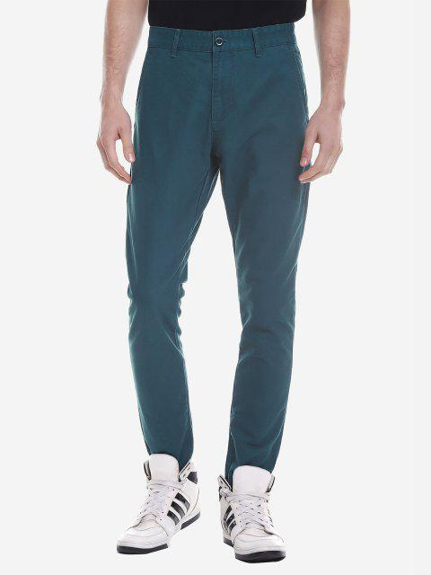 ZANSTYLE Men Slim Pants - GREEN 40