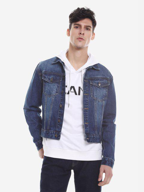 Faded Denim Jacket - BLUE M