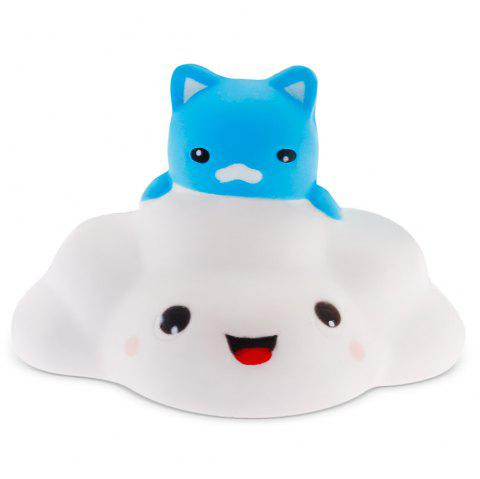 Cute Cartoon Cloud Cat PU Foam Squishy Toy 1pc Stress Relief Product Decoration Gift - COLORMIX
