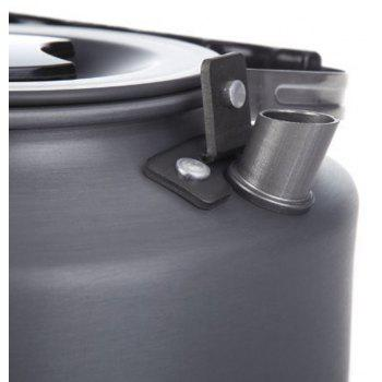 Ultralight Aluminum Alloy 1.1L Portable Coffee Teapot Water Kettle for Outdoor Hiking Camping Picnic - GRAY