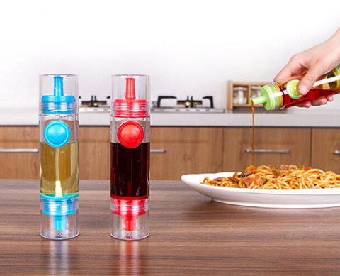 Creative Kitchen Spray Oil Vinegar Sauce Bottle Pressing Type with Nozzle Leakage Control Soy - RED