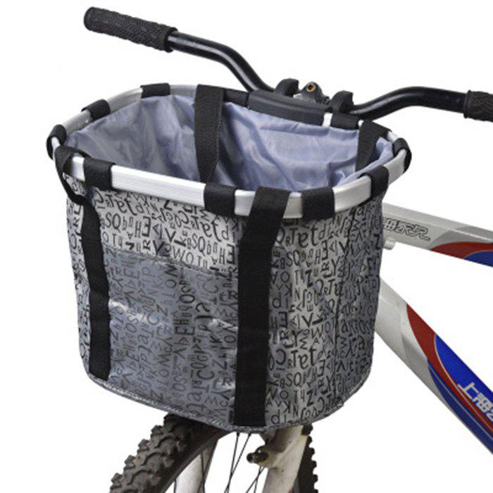 Bicycle Pet Basket Folding Easy-install Detachable Bike Front Cycling Bag - GRAY