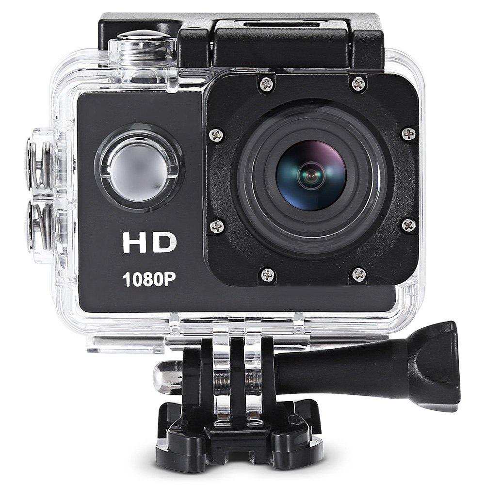 F80 1080P HD Action Camera with 30m Waterproof Case - BLACK