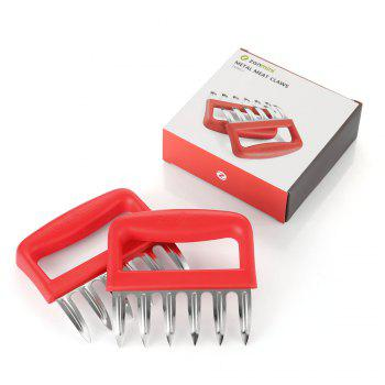 zanmini ZMMC2 Stainless Steel Claw Meat Mincer Set of 2 - RED