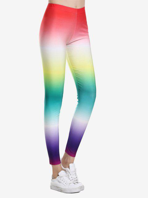 ZAN.STYLE High Waist Leggings - RAINBOW COLORED L