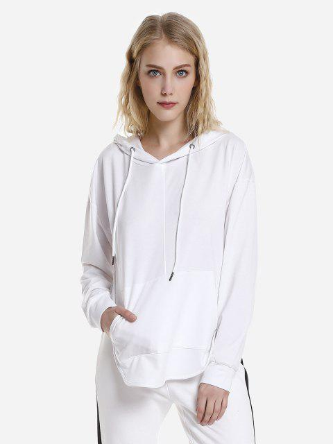 Open Back Hoodie - WHITE L