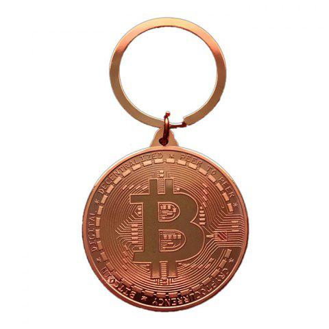 Creative Souvenir Gift Iron Bitcoin Key Chain - BRONZE