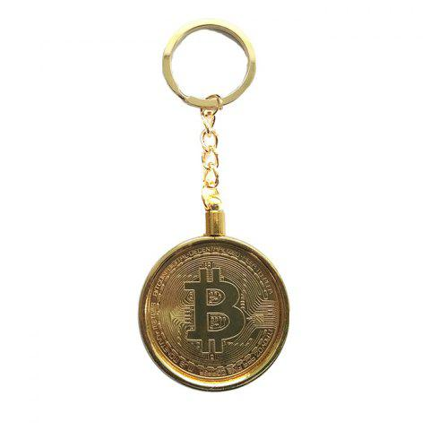 Creative Detachable Souvenir Gift Iron Bitcoin Key Chain - COPPER COLOR