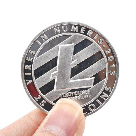 Creative Collectible Souvenir Iron Litecoin with Protective Case - SILVER