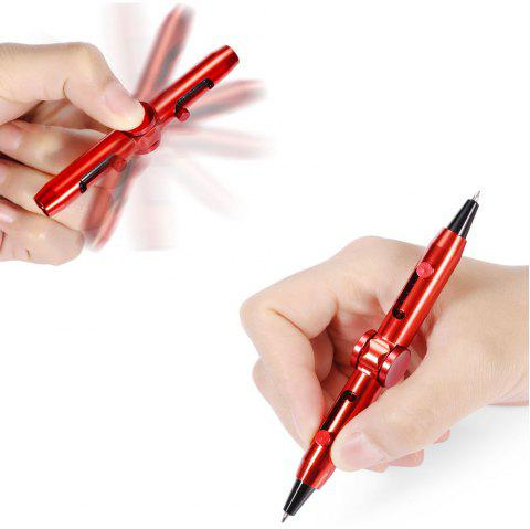 Rotatable Metal Pen Finger Fidget Stress Relief Hand Toy - RED