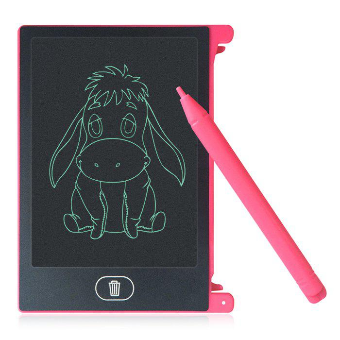 4.4 inch LCD Writing Tablet Kid Drawing Board Home Office Business Notepad - RED
