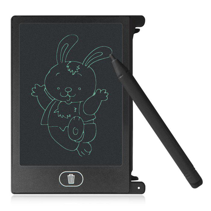 4.4 inch LCD Writing Tablet Kid Drawing Board Home Office Business Notepad - BLACK