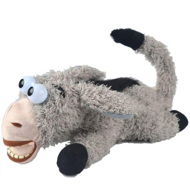 Rolling Laughing Donkey Beautiful Cute Doll Toy - GRAY