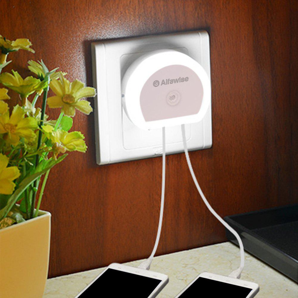 Alfawise HTV - 777 5V 1A Dual USB Ports Adapter Charger with Sensitive Light-sensor Night Light резистор kiwame 5w 11 kohm
