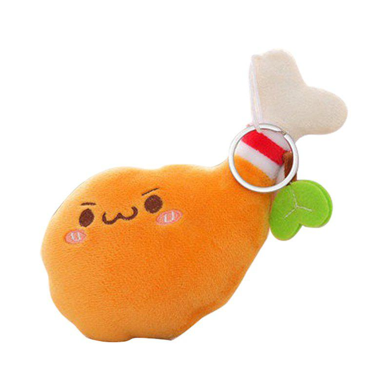 Cute Fried Chicken Plush Toy - CORAL 35X26CM