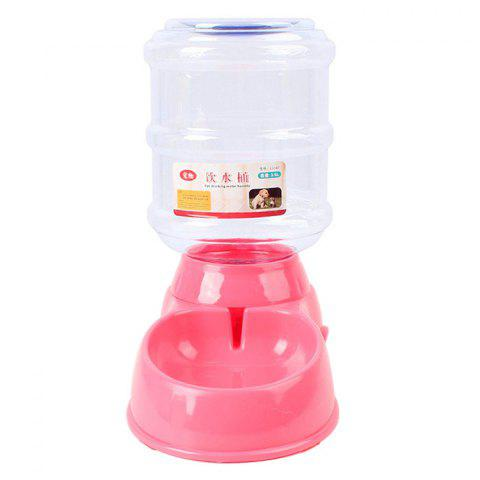 Automatic 3.5L Cat Dog Gravity Drinking Bowl - PINK