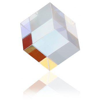 15mm x 15mm Optical Cube Prism Laser Beam Combination Toy - multicolor