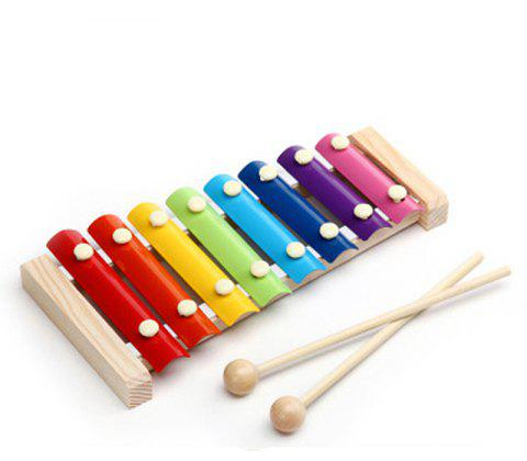 Children Educational Music Education Baby Toy Wooden Hand Knock Serinette - multicolor 23.5X12CM