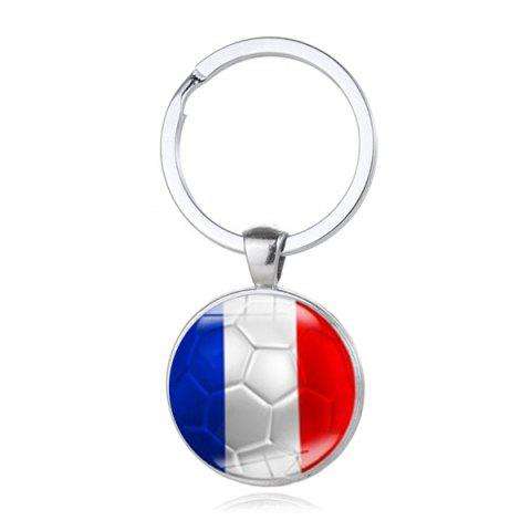 Porte-Clé de Style de Drapeau National de Football - multicolor H
