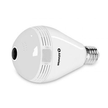 Alfawise JD - T8610 - Q2 360 Degree Wireless WiFi IP Camera LED Bulb Cam Home Security System - WHITE
