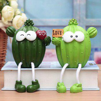 Creative Resin Cactus Hanging Feet Doll Cute Ornament for Home Decor 2pcs