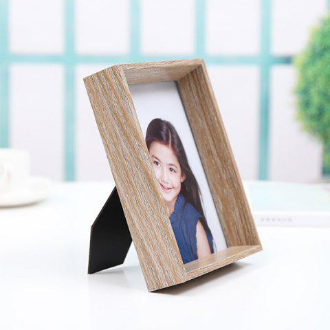 Creative Retro Style Wooden Photo Frame - CAMEL BROWN