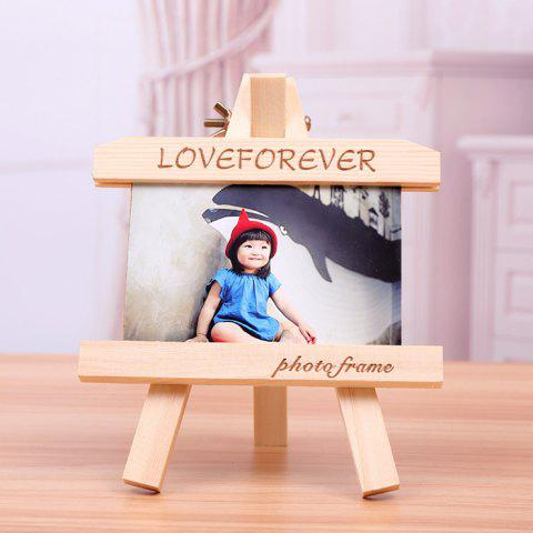Creative Practical Wooden Photo Frame - BLANCHED ALMOND 21CM X 14.5CM