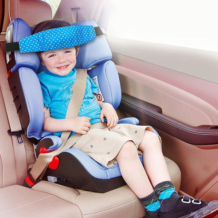 Baby Infant Seat Safety Support Band Head Fixing Sleeping Strap - BLUE