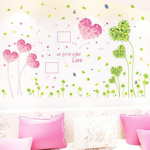 141 Creative Wall Sticker Set Love Grass Mural Decals for Home Decoration - PINK HEART