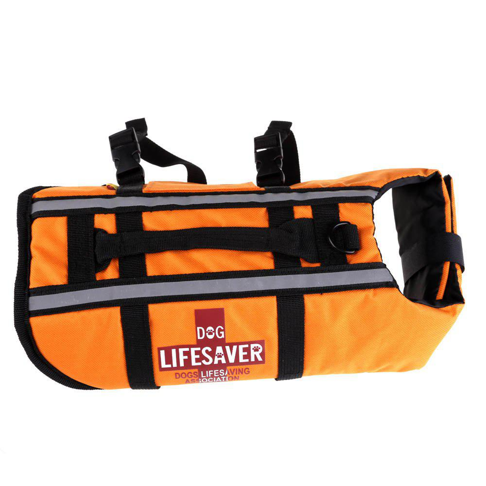 Dog Lifejacket Reflective Swimming Float Vest Adjustable Pet Aid Safety Clothing