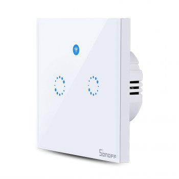 SONOFF T1 Double Gangs WiFi and RF 86 Type Smart Wall Touch Light Switch