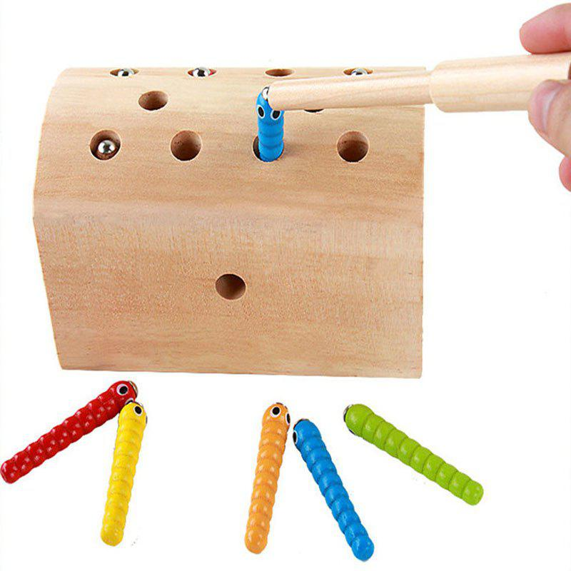 Wooden Magnetic Catch Insects Worm Game Children Educational Toys catch the worm magnetic toys for children early learning educational toy wooden puzzle game colorful toy for kids p20