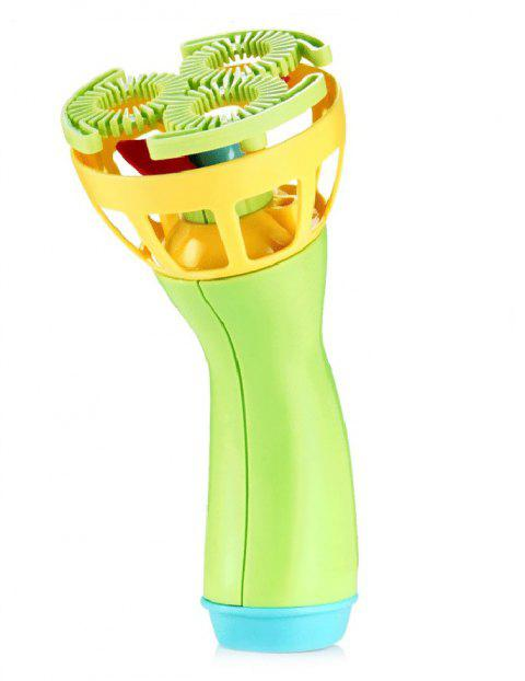 Outdoor Electric Fan Bubble Machine with Bubble Water Suit - TEA GREEN