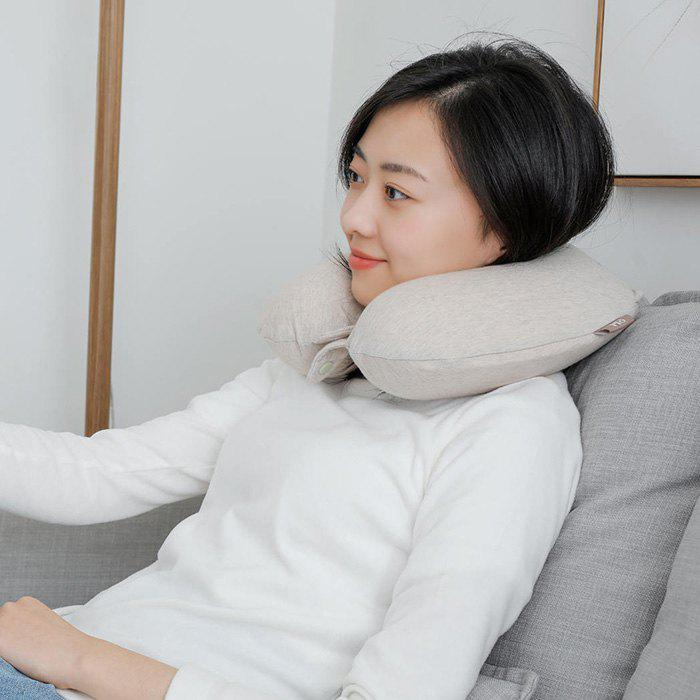 Xiaomi 8H U Shape Design Memory Cotton Pillow - BEIGE