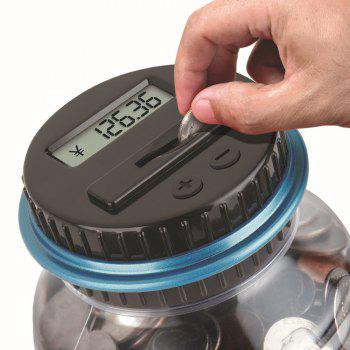 2.5L Piggy Bank Counter Electronic Digital LCD Counting Coin Money - BLACK