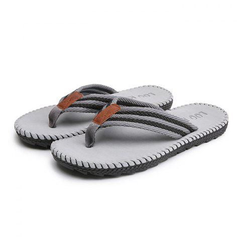 Men Casual Outdoor Beach Breathable Slippers - GRAY 42