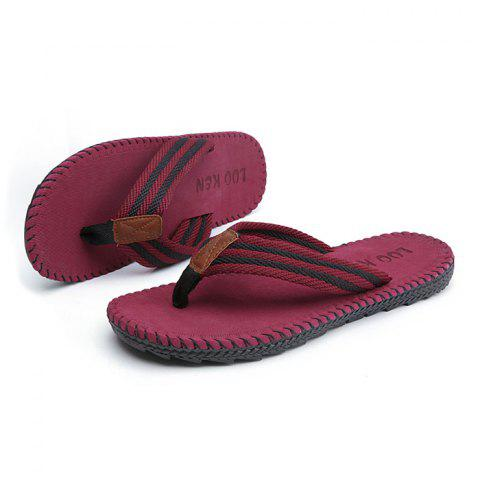 Men Casual Outdoor Beach Breathable Slippers - RED 45