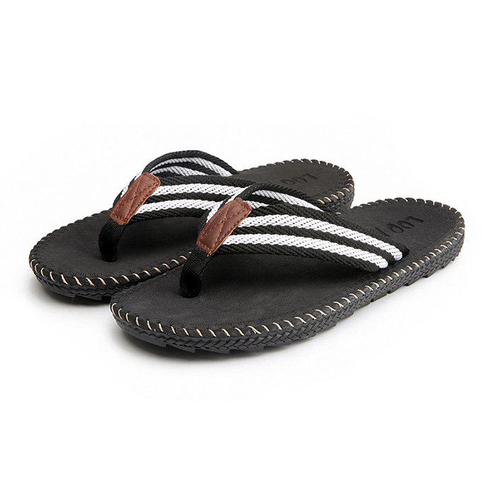 Men Casual Outdoor Beach Breathable Slippers - BLACK 43