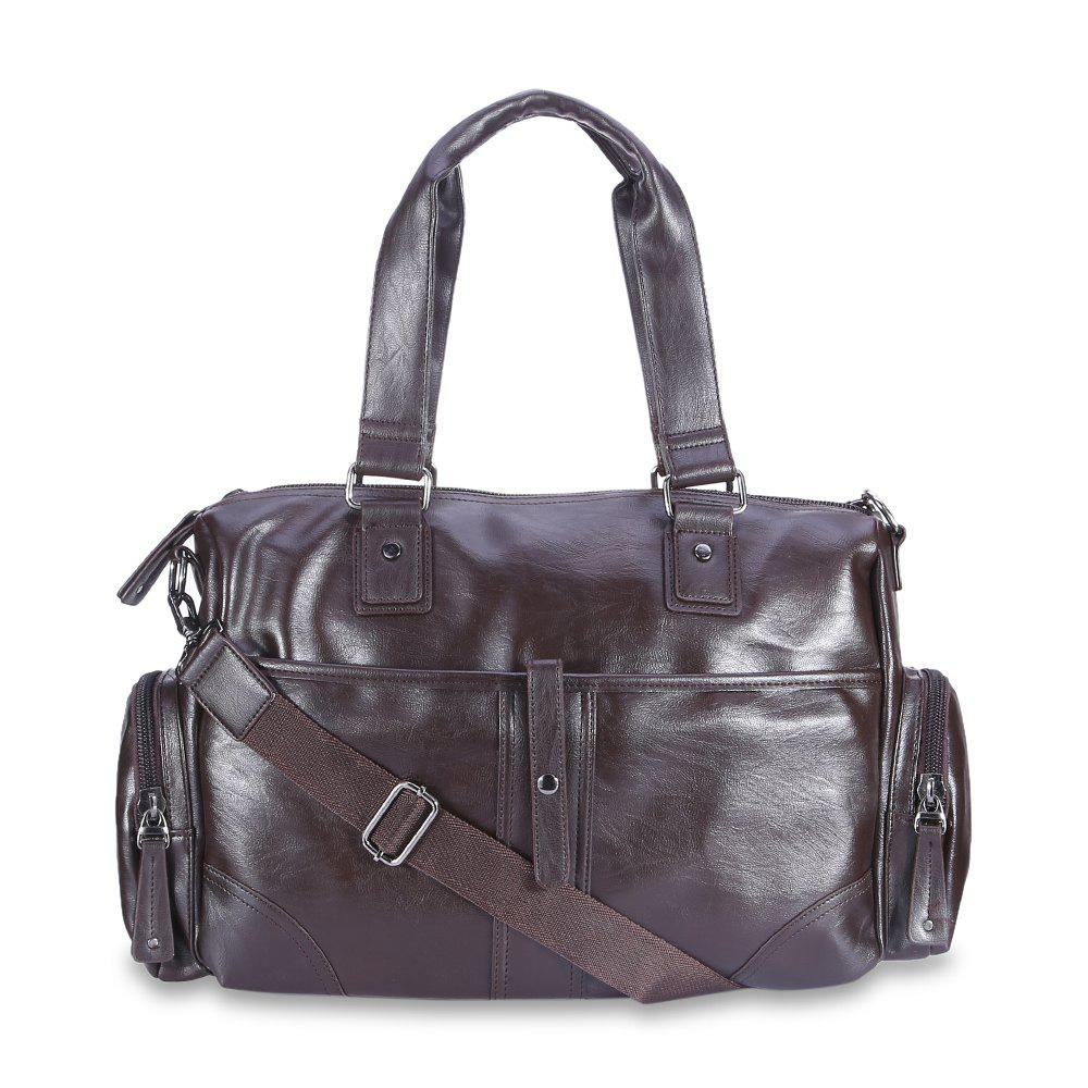 Waterproof Daily Leisure Men Shoulder Bag - DEEP BROWN