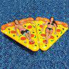 YH182 Inflatable Pizza Style Floating Mat for Entertainment - YELLOW