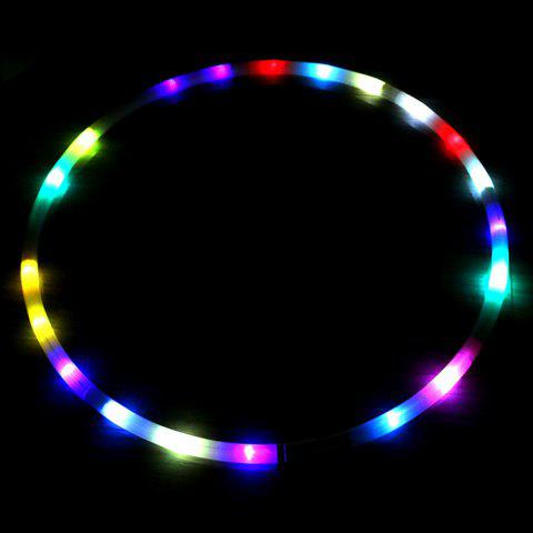 DIY Colorful LED Light Flash Hoop Sports Exercise Lose Weigh Helper Equipment Toy - WHITE