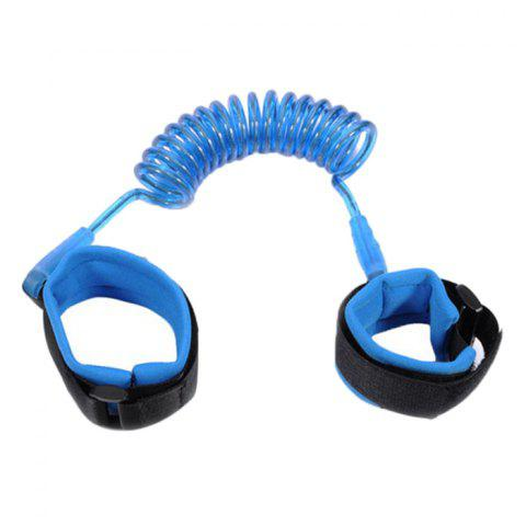 Anti-lost Belt Wrist Link / Band Safety Harness Soft Cuff Secure Cut-Proof Core for Kids / Toddler Preschoolers - BLUE