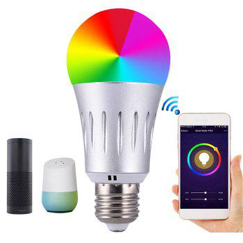 Wireless Remote Control WiFi Smart Bulb Support Google Home / Amazon Echo - SILVER E27