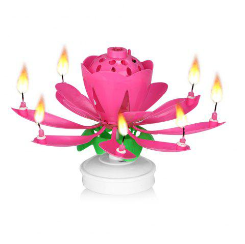Gocomma Double Layer Lotus Candle For Birthday Cake Party Wedding
