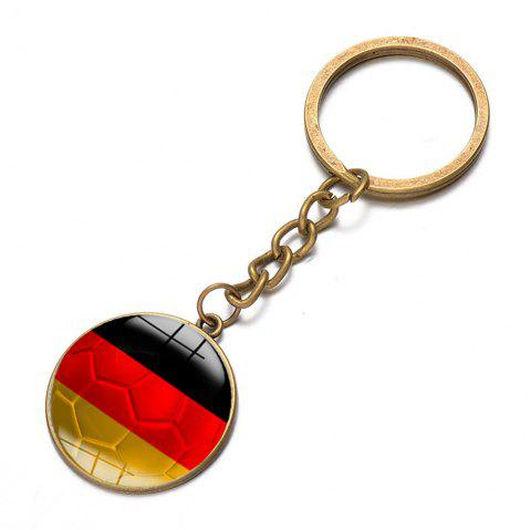 Football National Flag Model Keychain for 2018 FIFA World Cup Patriotic Key Ring Soccer Fans Travel Souvenir Car Accessories - BRONZE GERMAN FLAG